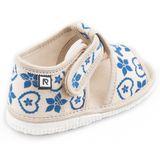 Children's slippers- folklore blue naturale
