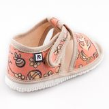 Children's slippers- dog and cat pink