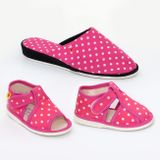 Ladies' footwear - ladies' slippers pink dots