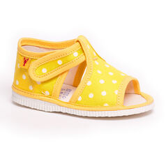 Children's slippers - yellow dot