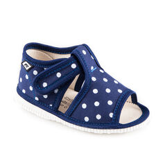 Children's slippers - blue dots