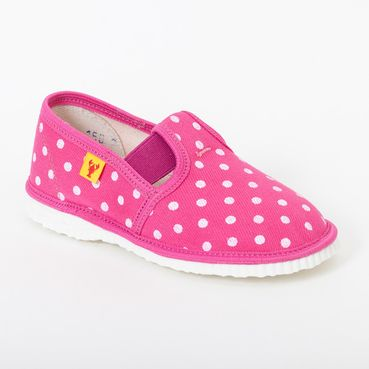 Children's slippers - pink dots