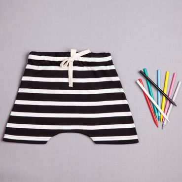 Shorts  black strip - GOTS
