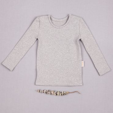 Undershirt gray melange- GOTS