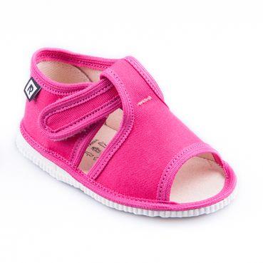 Children's slippers - dark pink