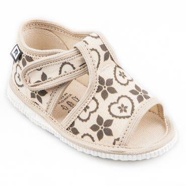 Children's slippers- folklore black naturale