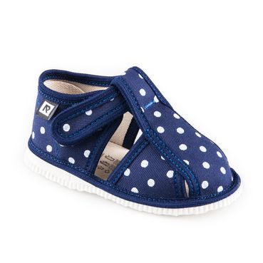 Children's slippers – blue dot