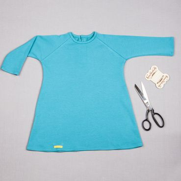 Dress turquoise GOTS