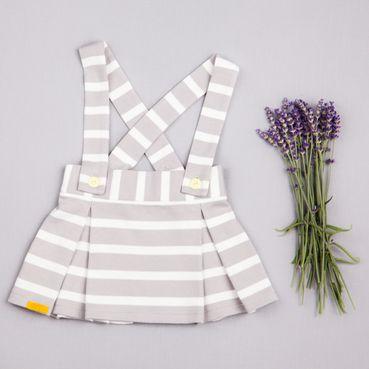 Skirt gray strip - GOTS