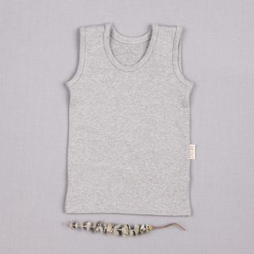 Vest top gray melange - GOTS