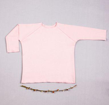 T-shirt pink long sleeve - GOTS